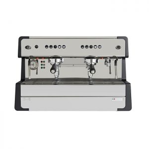 CIME CO O5 2 Group Espresso Coffee Machine Front View Silver