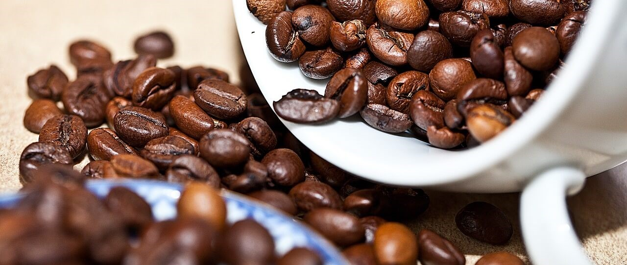 Coffee Beans In A Cup - Coffee Bean Snack Recipe Blog Banner