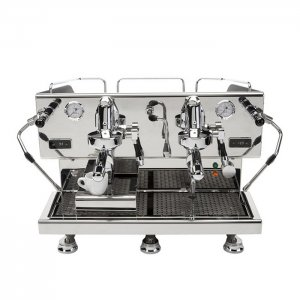 ECM Controvento 2 Group Espresso Coffee Machine Front View Silver