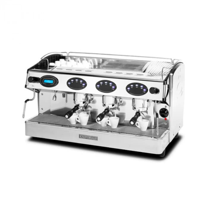 Expobar Rosetta espresso machine top view chrome