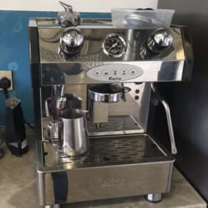 Fracino Little Gem espresso machine 1 group front view chrome