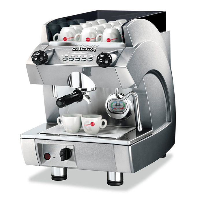 Gaggia GD Compact 1 Group Espreso Coffee Machine Side View