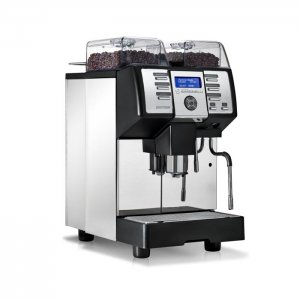 Nuova Simonelli Prontobar Touch bean to cup coffee machine Right Side View Silver and Black Model