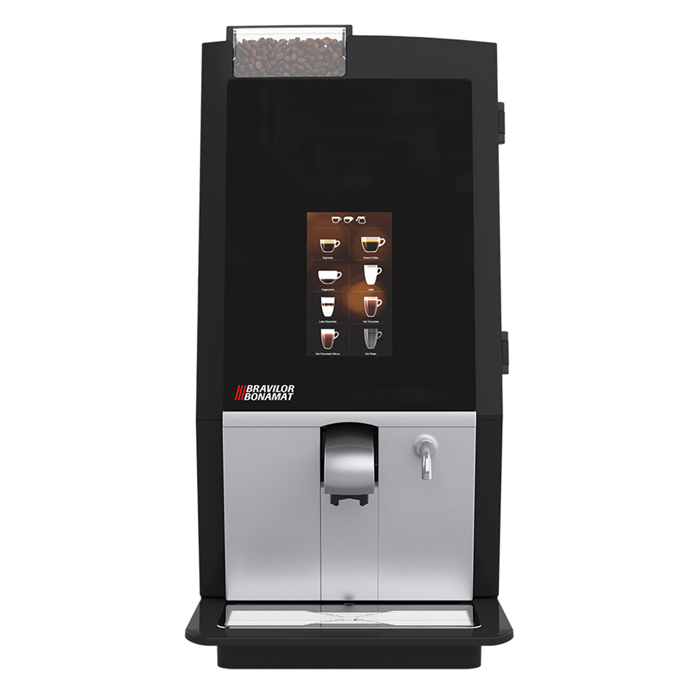 Bravilor Bonamat Esprecious 11 12 22 bean to cup coffee machine Front View black and silver model