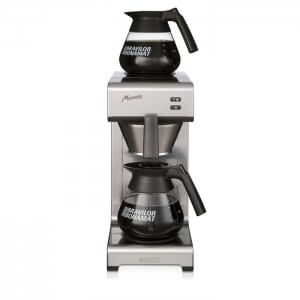 Bravilor Bonamat Mondo round filter coffee machine with 2 decanters Front View
