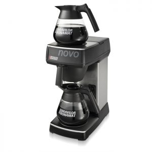 Bravilor Bonomat Novo round filter coffee machine with 2 Decanters Side View