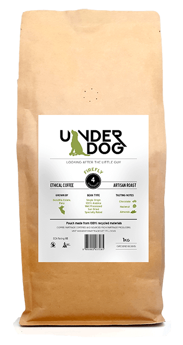 Underdog coffee Firefly 1kg front view