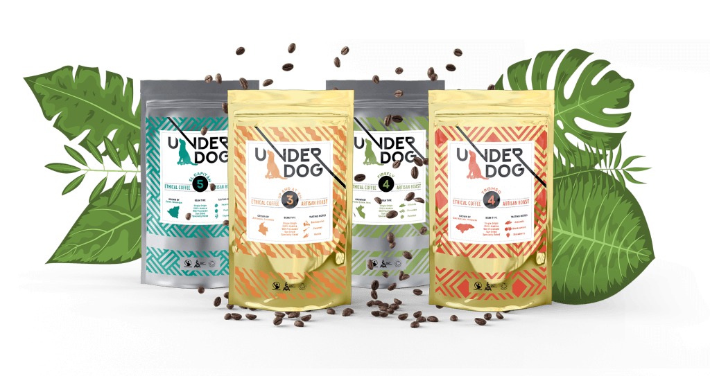 Sample Bags Of Underdog Coffee