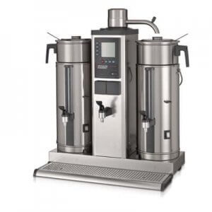 Bravilor Bonamat B20 round filter coffee machine left side view silver model