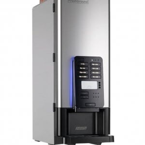 Bravilor Bonamat FreshGround commercial coffee machine right side view with LED illumination