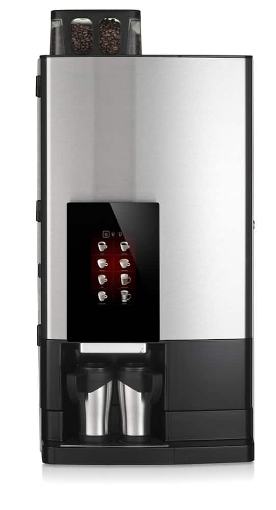 Bravilor Bonamat FreshGround XL bean to cup coffee machine front view black and silver model