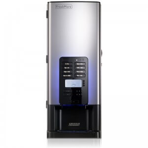 Bravilor Bonamat FreshMore commercial coffee machine front view black and silver model with LED illumination