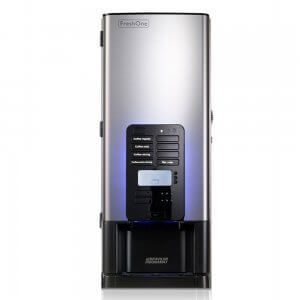 bravilor freshone bean to cup coffee machine front view black and silver model