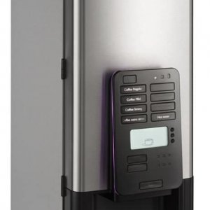 Bravilor FreshOne G bean to cup coffee machine right side view black and silver model