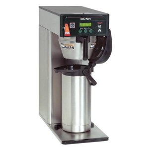 Bunn ICBA Brewer thermal brewer coffee machine with flask right side view silver model
