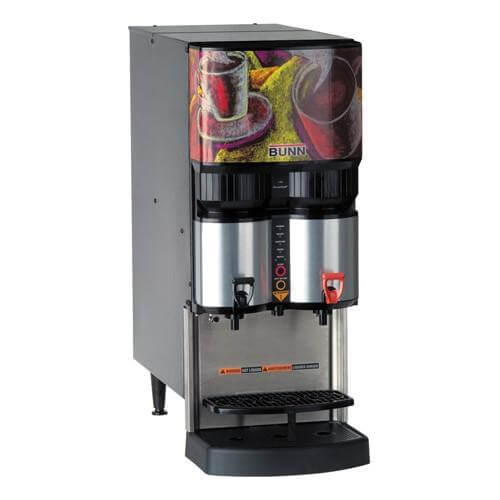 Bunn LCA-2 2 Product commercial coffee machine right side view silver model with design model