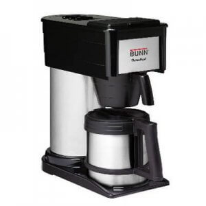 Bunn Thermofresh commercial filter coffee machine right side view black and silver model