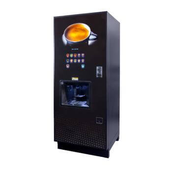 Coffetek Neo commercial bean to cup coffee machine left side view black model