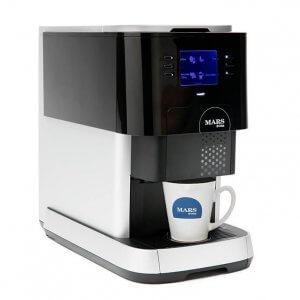 Flavia Creation 500 instant coffee machine right side view black and silver model