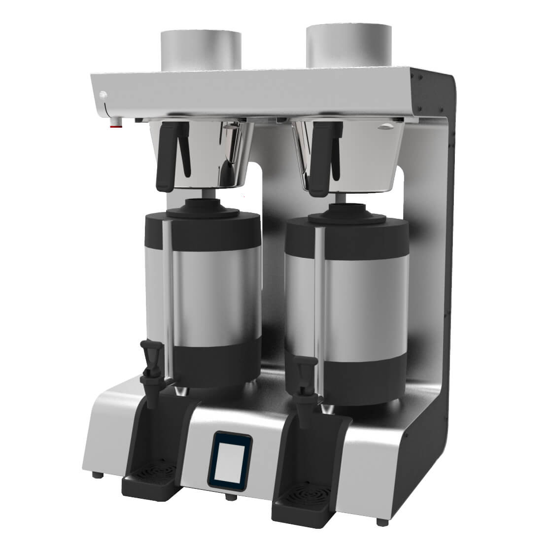 Marco JET6 TWIN commercial thermal brewer left side view black and silver model