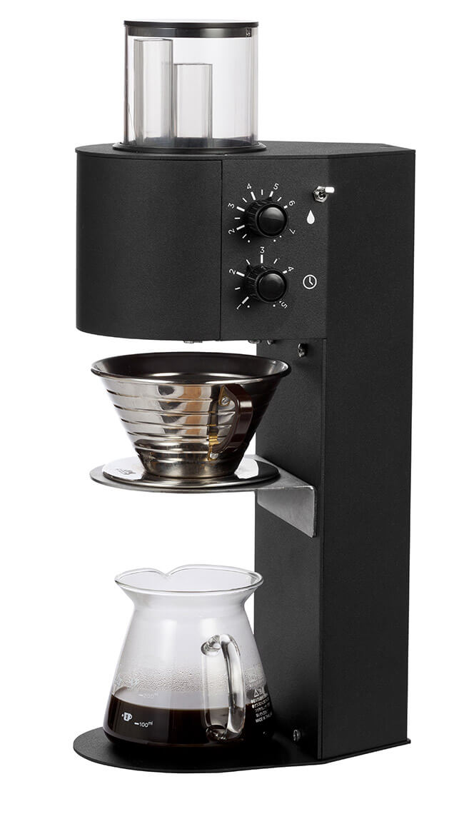 Marco SP9 Single thermal brewer coffee machine with filter left side view black model