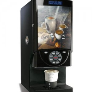 Matrix Sovereign commercial bean to cup coffee machine right side view black model with design panel