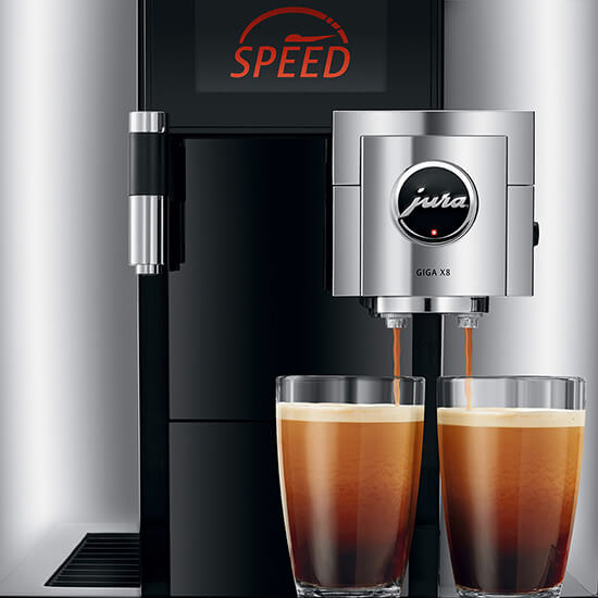 Jura Giga X8 coffee machine drinks