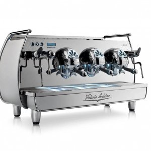Victoria Arduino Adonis espresso machine side view stainless steel