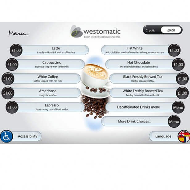 Westomatic Sigma Touch Hot Cold Drinks Vending Machine alt-2